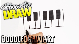 How to Draw a Piano Keyboard Quick Draw! Step by Step Drawing Tutorial