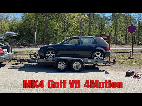 BRINGING HOME MY MK4 GOLF V5 4 MOTION!! ( Junkyard Car )