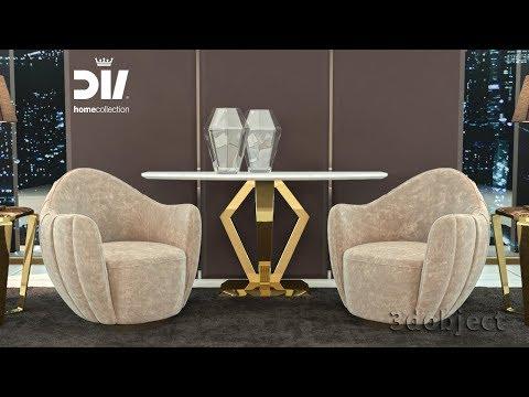 3d моделирование кресла DV Home Hermes в 3dsMax и Marvelous Designer | 3d Modeling | Armchair