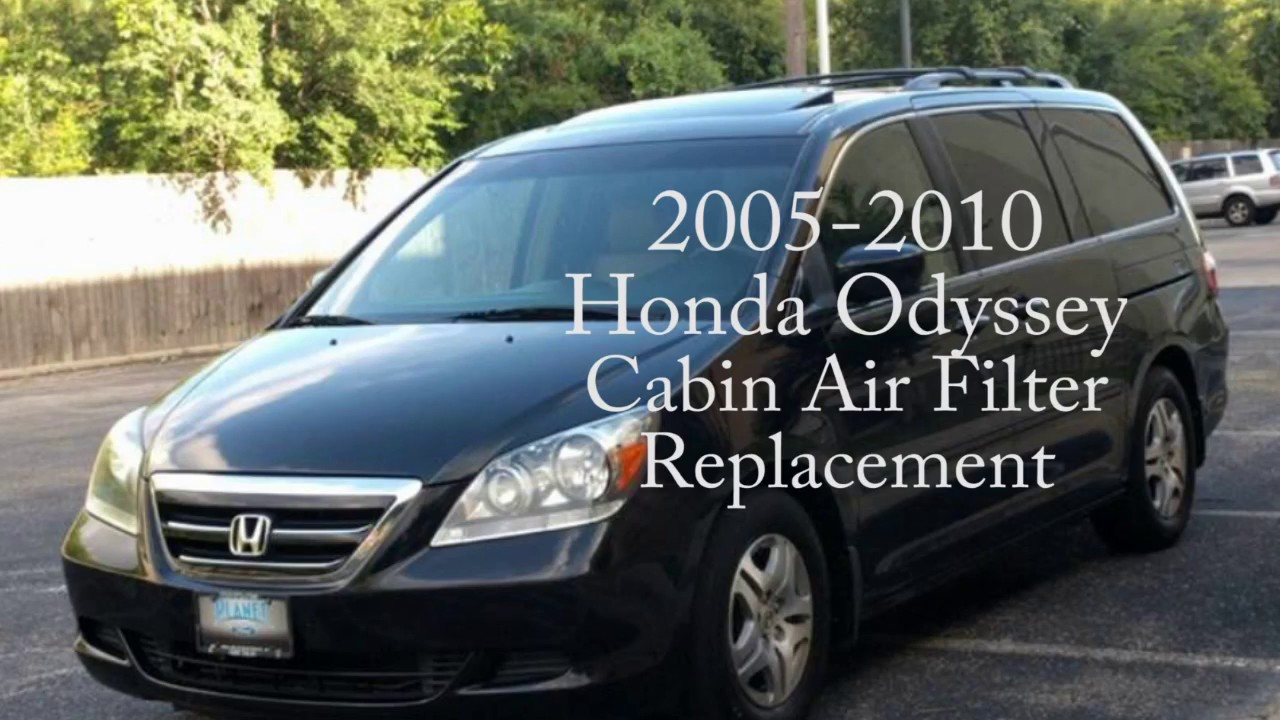 How To Replace The Cabin Air Filter On A Honda Odyssey