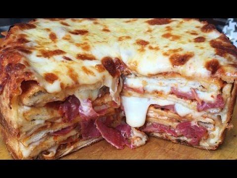صورة  طريقة عمل البيتزا Pizza cake easy recipe طريقة عمل بيتزا كيك بطريقة سهلة طريقة عمل البيتزا من يوتيوب