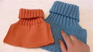 How to knit neckwarmer / pullover scarf for children, step by step