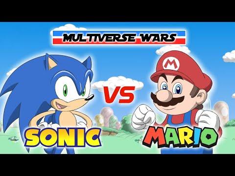 Super Mario Vs Sonic The Hedgehog Animation - Multiverse Wars!