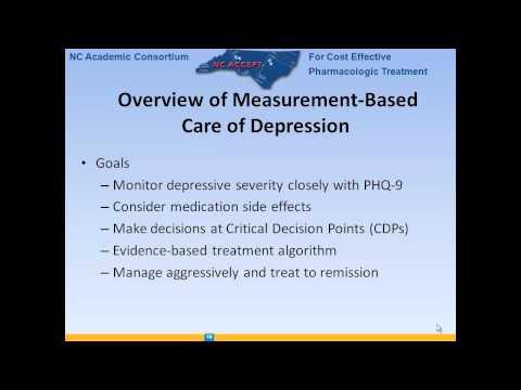 Internal Medicine Grand Rounds - Managing Depression in Primary Care