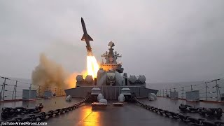 SHOW OF POWER Russian Military Naval Ships conducts Live Fire Missile Tests