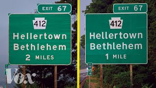 Why the US has two different highway fonts