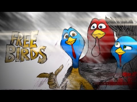 Up Around The Bend. [Speed Paint]-Jenny, Reggie, & Jake. (Free Birds). (60fps-HD)
