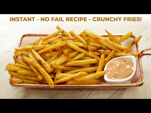 No Fail French Fries Recipe - Crunchy Sweet Potatoes Fry - CookingShooking