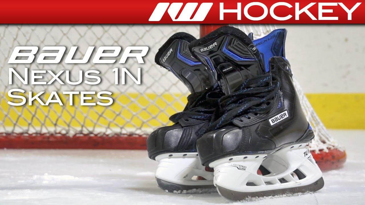 ebe44726edc Bauer Nexus 1N Skate On-Ice Review - YouTube
