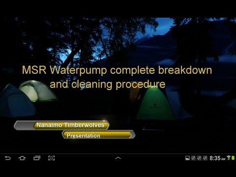 MSR Micro Works EX Water Filter Breakdown Cleaning Procedure