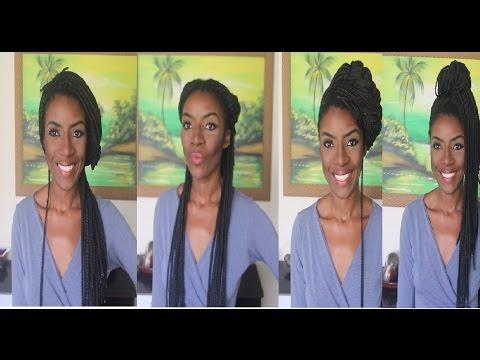 07 Penteados Lindos E Práticos Tranças Afro Compridas