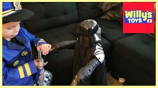 Bad Cop Caught with his PANTS DOWN! 3 Year Old Police Officer vs. DARTH VADER - Costume by Proloso
