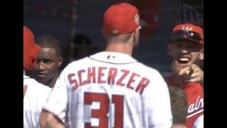 Max Scherzer accidentally celebrates a walk off in the 8th inning, a breakdown