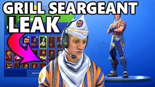 Fortnite Grill Sergeant - *NEW* Fortnite LEAKED GRILL SERGEANT SHOWCASE!