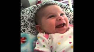Baby thinks Jaws theme song is Funny