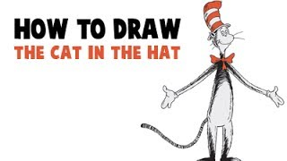 How to Draw The Cat in The Hat from Dr. Seuss