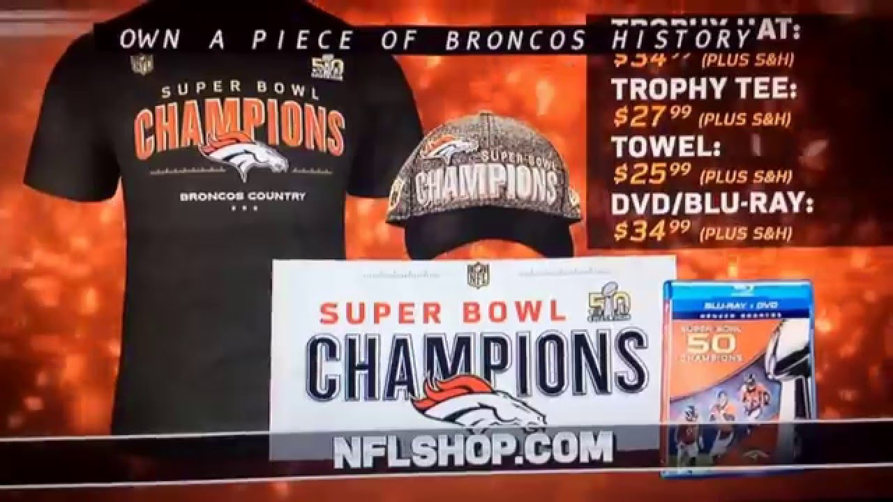 872baa17b 2016 Broncos Super Bowl 50 champs gear commercial - YouTube