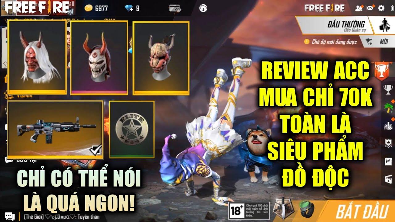 Free Fire   Review Acc Mua Chỉ 70K Có Quỷ Kiếm Dạ Xoa Đầu Sừng Áo Hiếm Closed Beta   Rikaki Gaming
