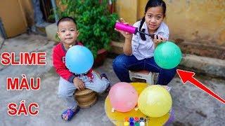 Trò Chơi Phá Hủy Bóng Bay Slime Màu Sắc - Bé Nhím TV - Đồ Chơi Trẻ Em Thiếu Nhi