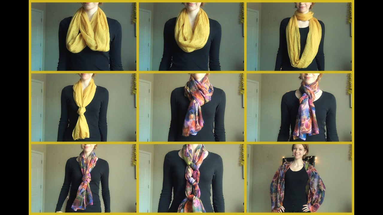 Different Ways To Tie And Wear A Scarf Youtube