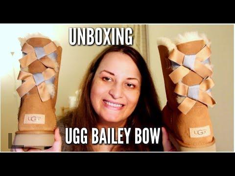 UGG AUSTRALIA BAILEY BOW II SHIMMER UNBOXING