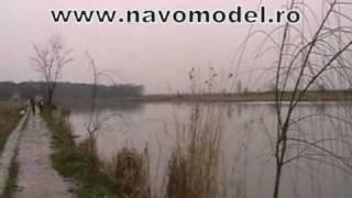 Navomodel catamaran alb 2 cuve