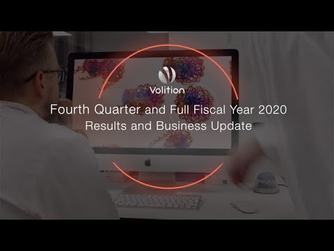 VolitionRx Limited Announces Full Fiscal Year 2020 Financial Results and Business Update