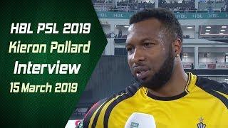 Kieron Pollard Interview | 15 March | HBL PSL 2019