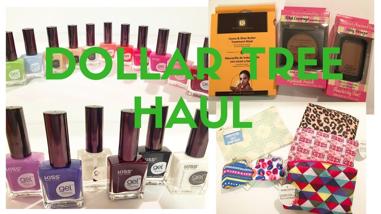 June Dollar Tree Haul- Kiss Gel Nail Polish and More - YouTube