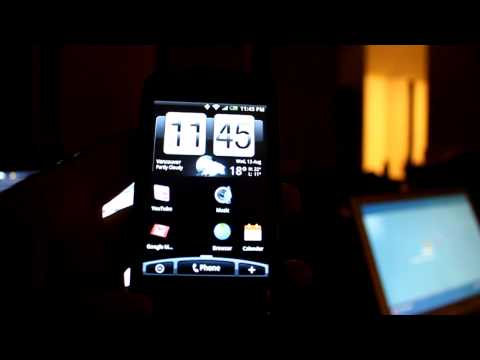 Rogers HTC Magic running the ROM for the new Andriod phone the HTC Hero...