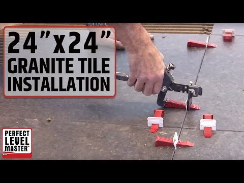 "Trade secrets,.How to install 60cm- 60cm (24""x24"") Granite Tiles with T-Lock Master"