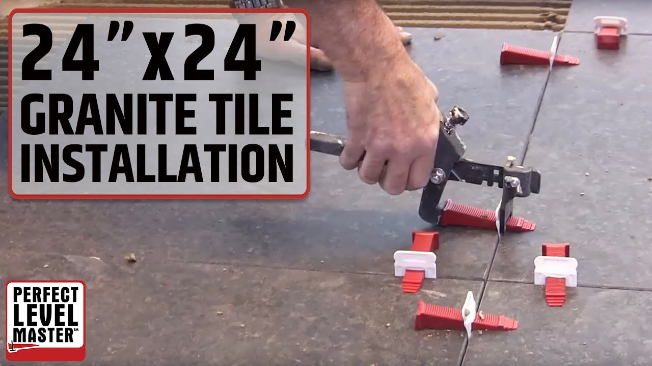 Trade secrets to install 60cm 60cm 24x24 granite tiles how to install 60cm 60cm 24x24 granite tiles with t lock master youtube dailygadgetfo Image collections