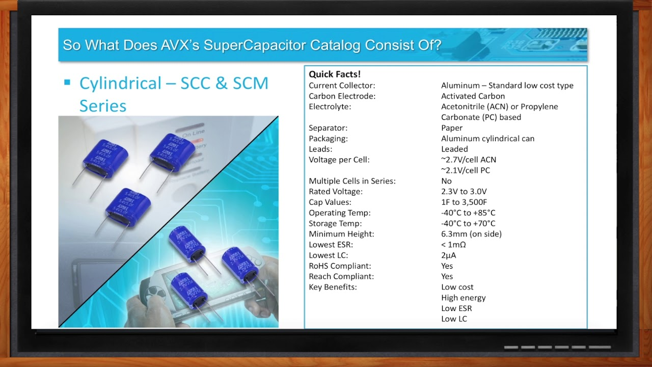 AVX Cylindrical Supercapacitor cells and modules | TTI Europe