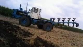 Оранка трактором т150к під посів