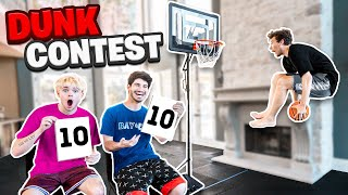 CRAZIEST INDOOR MINI HOOP DUNK CONTEST