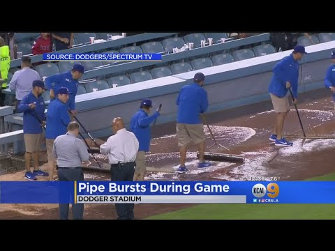 Sewage Leak On The Field Ends Game Early At Dodger Stadium