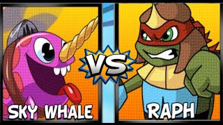 Super Brawl 4: Sky Whale Vs Raph - New Update Charater | Nick Games