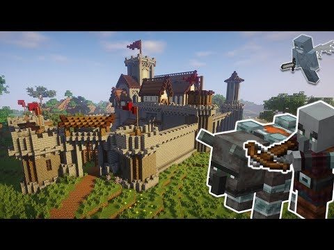 Defending My Minecraft Fortress From A Pillager Raid | Minecraft Timelapse [Download]