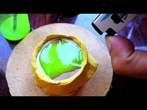 DIY Repair Resin Lightning Capsule Using Clear Epoxy Casting Resin and Wood