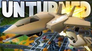 Unturned Funny Moments w/ DizzyD: WE ARE THE WORST DOGFIGHTERS (Fighter Jet Arena)