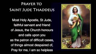Prayer to Saint Jude - Prayer to St Jude