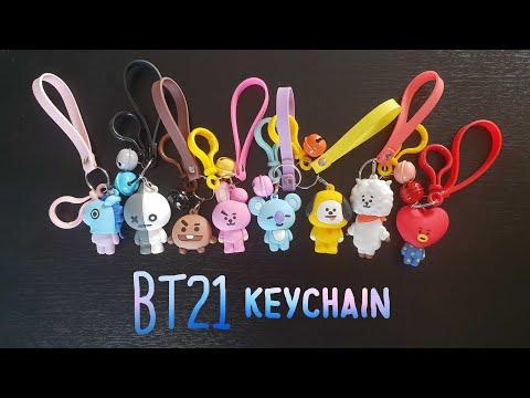 BT21 keychain Unboxing