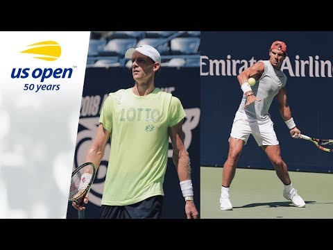 Rafael Nadal And Kevin Anderson Get Ready For 2018 US Open