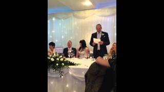 Funniest Father of the Bride speech. Daughters second wedding