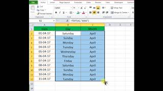 Excel Tricks 5: Convert Date To Weekday Name & Month Name In Excel