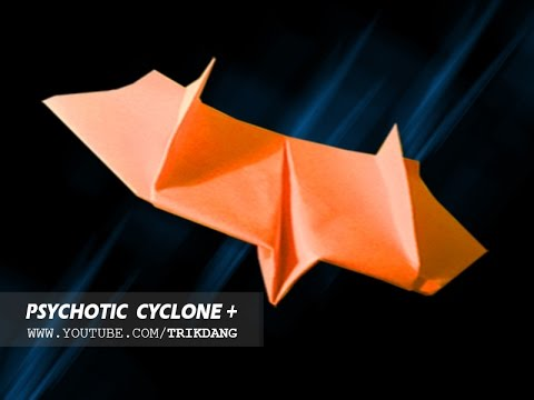 Papercraft Paper Airplane Instructions: How to make a paper plane that FLIES BACK | Psychotic Cyclone [HD]