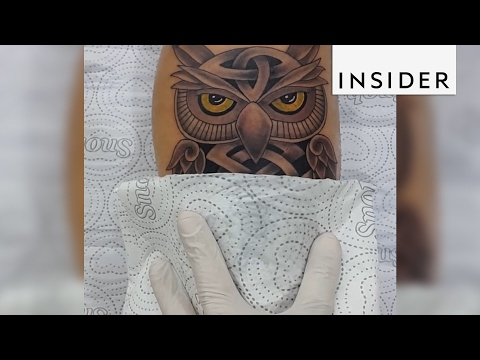 A Paraguayan tattoo artist has the sweetest reveals