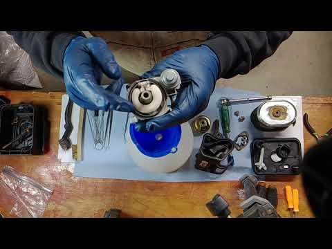 DIY Harbor Freight/Chong Qing carburetor cleaning/repair on log splitter