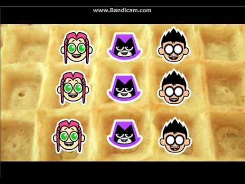 Los Jovenes Titanes en Acción la canción de waffles Versión extra Robin Starfire y Raven