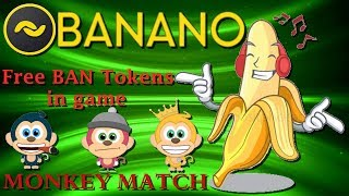 BANANO - Игра Monkey Match (Криптовалюта без вложений).